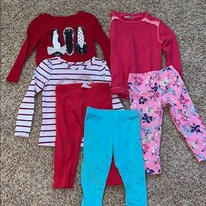 Bundle Toddler Girl's Outfit 4/4T